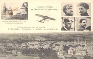 CPA - Brive (Corrèze) - Aviateurs prenant part au meeting - VEDRINES - GARROS - DIDIER - CHAMBENOIS