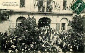 CPA - Bourgueil (Indre-et-Loire) - Cavalcade du 7 Juillet 1912 - Couronnement de la Reine