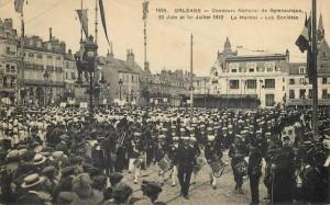 CPA - Orléans (Loiret) - Concours National de Gymnastique - 30 Juin et 1er Juillet 1912 - Le Martroi - Les Sociétés