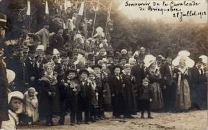 Carte-Photo - Bricquebec (Manche) - Souvenir de la cavalcade de Bricquebec - le 28 juillet 1912