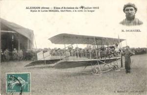 CPA - Alençon (Orne) - Fêtes d'Aviation du 14 Juillet 1912 - Biplan de Lucien DEMAZEL