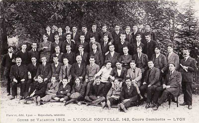 Lyon (Rhône) - Cours de Vacances 1912. - L'ECOLE NOUVELLE