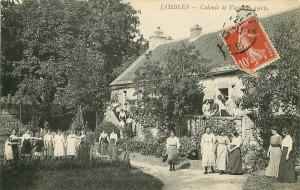 Jambles (Saône-et-Loire) - Colonie de Vacances 1912
