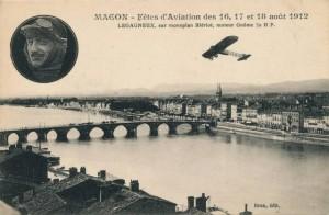 CPA - Mâcon (Saône-et-Loire) - Fêtes d'Aviation des 16, 17 et 18 août 1912 - LEGAGNEUX sur monoplan Blériot