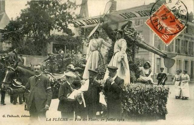 CPA - La Flèche (Sarthe) - Fête des Fleurs, 1er Juillet 1912
