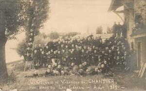 """La Colonie de Vacances du """"Chantier"""" - Aux Bords du Lac Léman - Août 1912"""