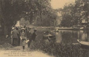 CPA - Moret-sur-Loing (Seine-et-Marne) - Concours de Pche du 21 Juillet 1912 - Un bon coin des Pcheurs