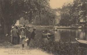CPA - Moret-sur-Loing (Seine-et-Marne) - Concours de Pêche du 21 Juillet 1912 - Un bon coin des Pêcheurs