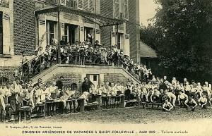 Quiry-Folleville (Somme) - Colonies Amiénoises de Vacances - Août 1912 - Toilette matinale