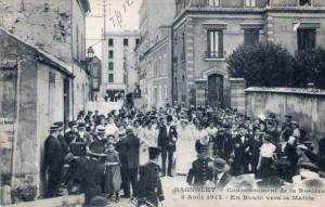 CPA - Bagnolet (Seine) - Couronnement de la Rosière - 5 Août 1912 - En Route vers la Mairie