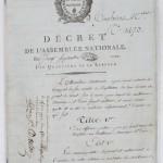 Décret de l' Assemblée nationale du 20 septembre 1792