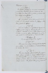 Manuscrit du Décret de l' Assemblée nationale du 20 septembre 1792