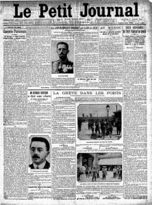 Le Petit Journal, une du 7 juillet 1912 | Gallica © BnF