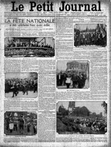 Le Petit Journal, une du 15 juillet 1912 | Gallica © BnF