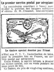 Le Petit Parisien, une du 29 juillet 1912 (extrait) | Gallica © BnF