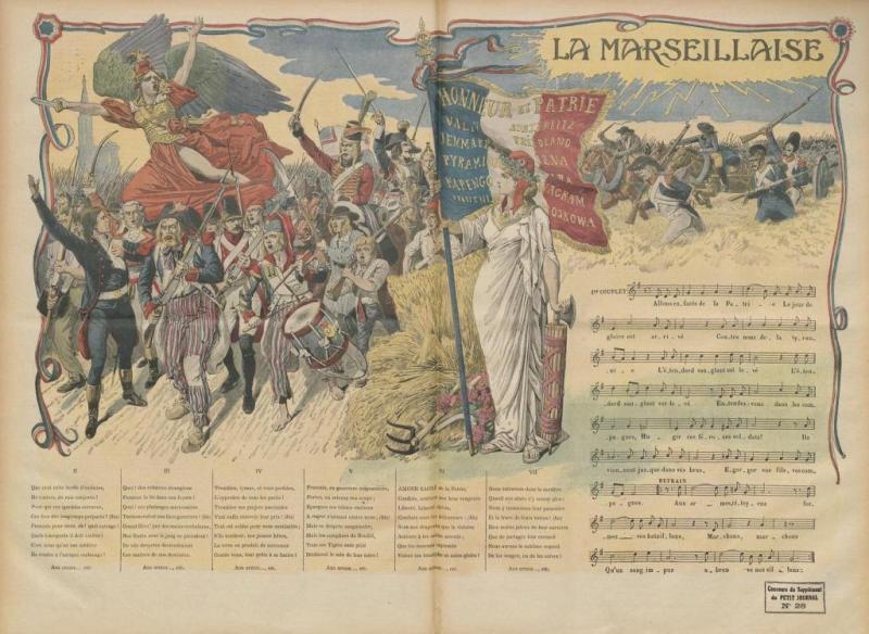 Le  Petit Journal, supplément illustré du dimanche 14 juillet 1912 - La Marseillaise