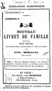 Nouveau Livret de Famille par Félix Moralia, 1888 | Gallica © BnF