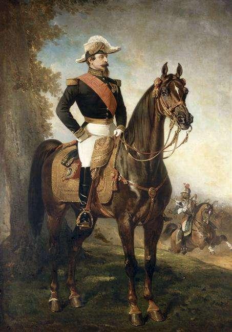 Portrait équestre de Napoléon III par Alfred Dedreux, 1858
