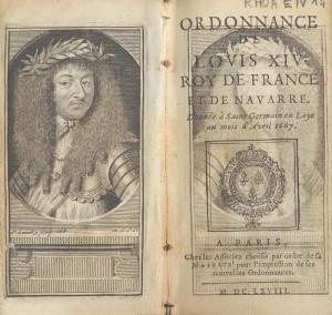 Code Louis, ordonnance de Saint-Germain-en-Laye, Louis XIV, 1667