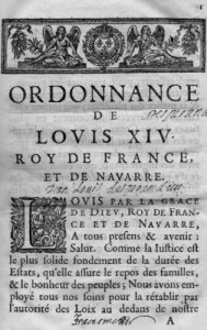 Ordonnance de Saint-Germain-en-laye, avril 1667