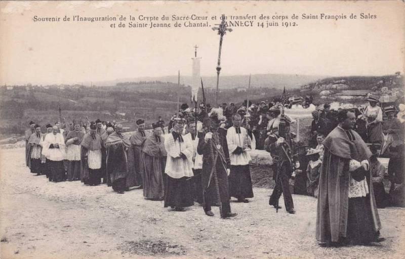 Annecy (Haute-Savoie) - Souvenir de l'Inauguration de la Crypte du Sacré-Coeur - 4 juin 1912