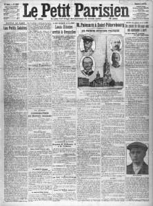 Le Petit Parisien, une du 11 août 1912