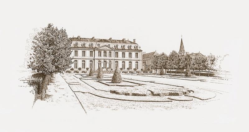 château du Grand Lucé (XVIIIe siècle) - encre sur velin | collection privée - jeffdicicco.com