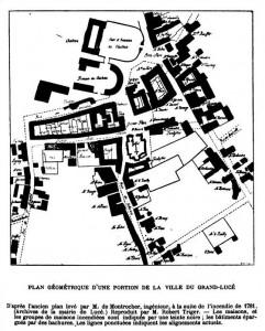 Plan géométrique d'une portion de la ville du Grand Lucé
