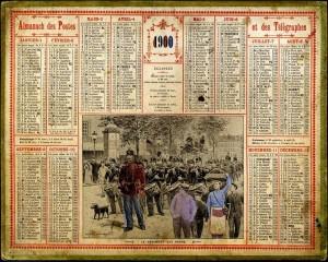 Almanach des Postes, 1900