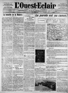 L'Ouest Eclair (Rennes) - une du 17 octobre 1912