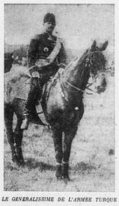 L'Ouest Eclair (Rennes) - une du 24 octobre 1912 - extrait : Le Généralissime de l'armée turque