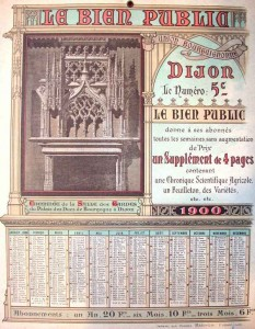Le Bien Public, calendrier 1900
