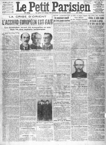 Le Petit Parisien, une du 8 octobre 1912