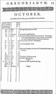 calendrier grégorien, octobre 1582 | astronomia.fr
