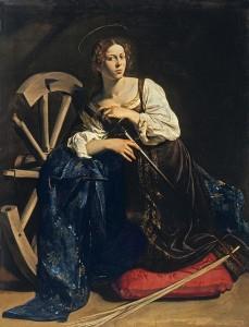 Sainte-Catherine d'Alexandrie par LeCaravage, 1595-1596