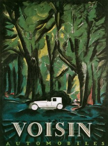 affiche automobiles Voisin