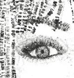 Mnêmê, dessin au tampon-encreur par Nicola Anthony