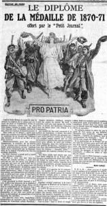 Le Petit Journal du 15 décembre 1912 - une - Diplôme 1870-71