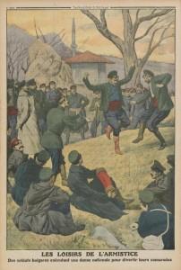 Le Petit Journal, supplément illustré du dimanche 15 décembre 1912 - dernière de couverture - Les loisirs de l'armistice