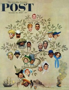Family Tree par Norman ROCKWELL, Saturday Evening Post