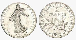 pièce de 2 francs, semeuse, 1913