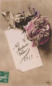 Carte Postale Ancienne - Nos Meilleurs Voeux 1913