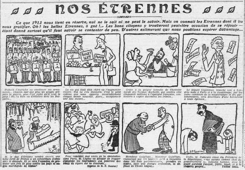 L'Humanité, une du 1er janvier 1913 - des Étrennes | Gallica - BnF