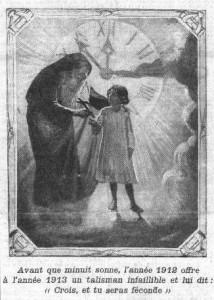 La Croix, image en une du 1er janvier 1913