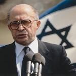 Menahem Begin, né le 16 août 1913 à Brest-Litovsk, Russie Impériale - Premier ministre d'Israël, prix Nobel de la paix en 1978