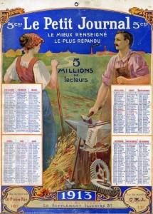 Calendrier 1913du quotidien Le Petit Journal