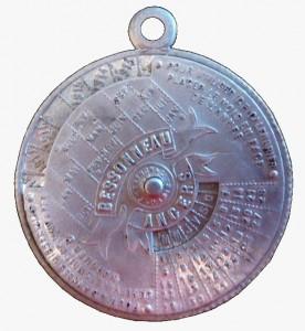 Calendrier en aluminium - 1913-1934 - usines Bessonneau