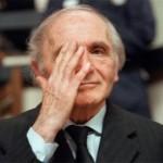 Klaus Barbie, né le 25 octobre 1913 à Bad Godesberg, Empire allemand, lors de son jugement en mai 1987 - chef de la Gestapo de Lyon, condamné pour crime contre l'humanité
