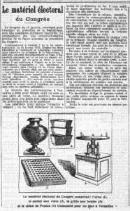 LaCroix, 10 janvier 1913 - une : Le matériel électoral du Congrès | Gallica - BnF