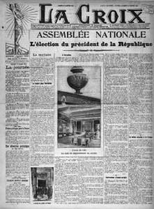 La Croix, une du 18 janvier 1913